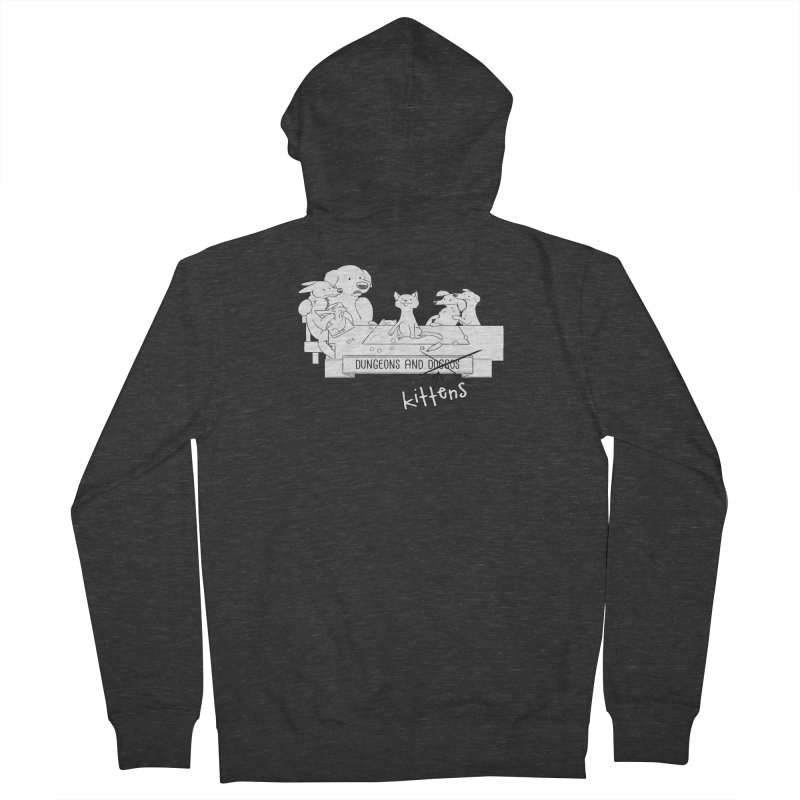 Dungeons and Kittens Men's French Terry Zip-Up Hoody by DnDoggos's Artist Shop