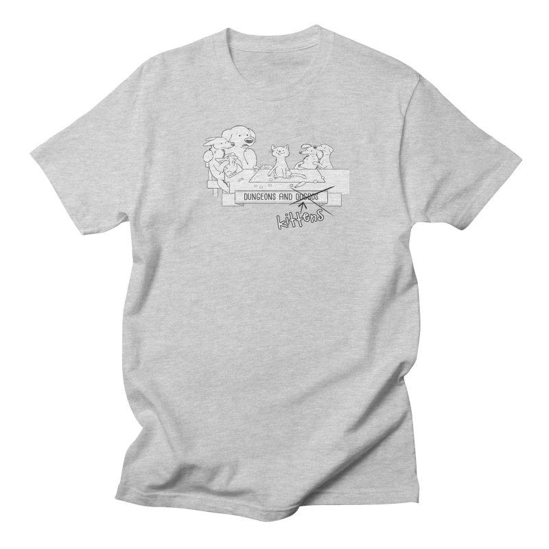 Dungeons and Kittens Men's Regular T-Shirt by DnDoggos's Artist Shop