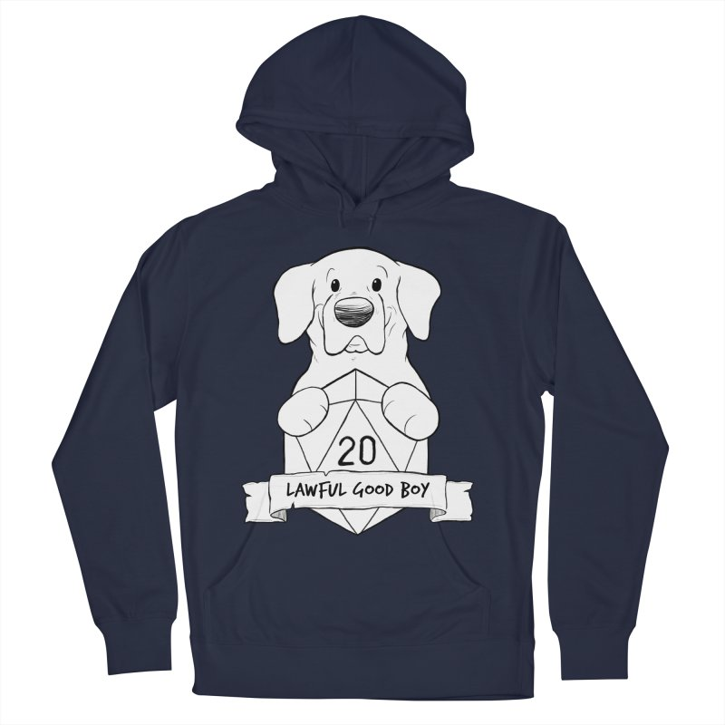 Lawful Good Boy Men's French Terry Pullover Hoody by DnDoggos's Artist Shop