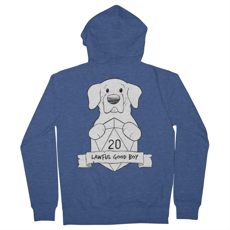 Lawful Good Boy Men's French Terry Zip-Up Hoody by DnDoggos's Artist Shop