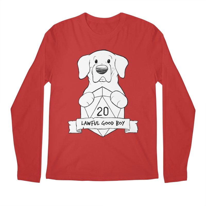 Lawful Good Boy Men's Regular Longsleeve T-Shirt by DnDoggos's Artist Shop