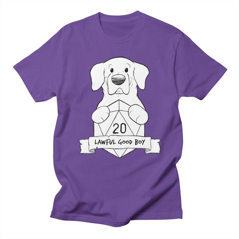 Lawful Good Boy Men's Regular T-Shirt by DnDoggos's Artist Shop