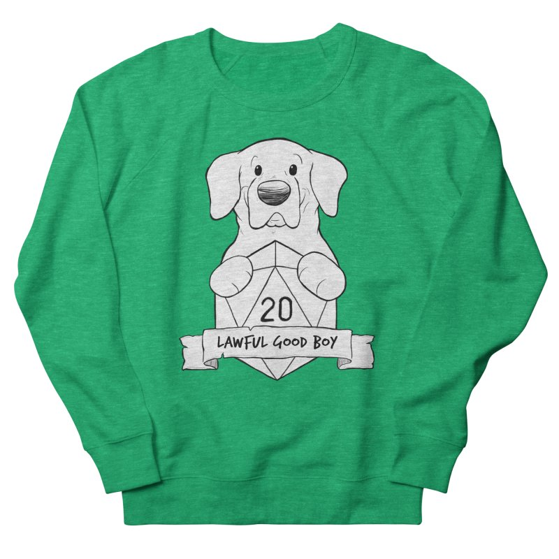 Lawful Good Boy Men's French Terry Sweatshirt by DnDoggos's Artist Shop