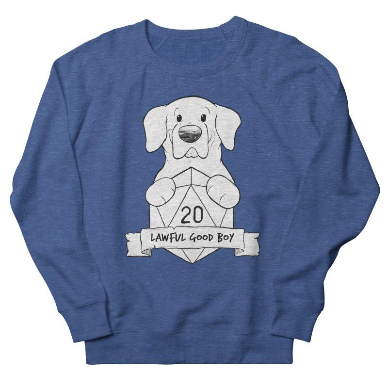 Lawful Good Boy Men's French Terry Sweatshirt by DnDoggos's Artist Shop