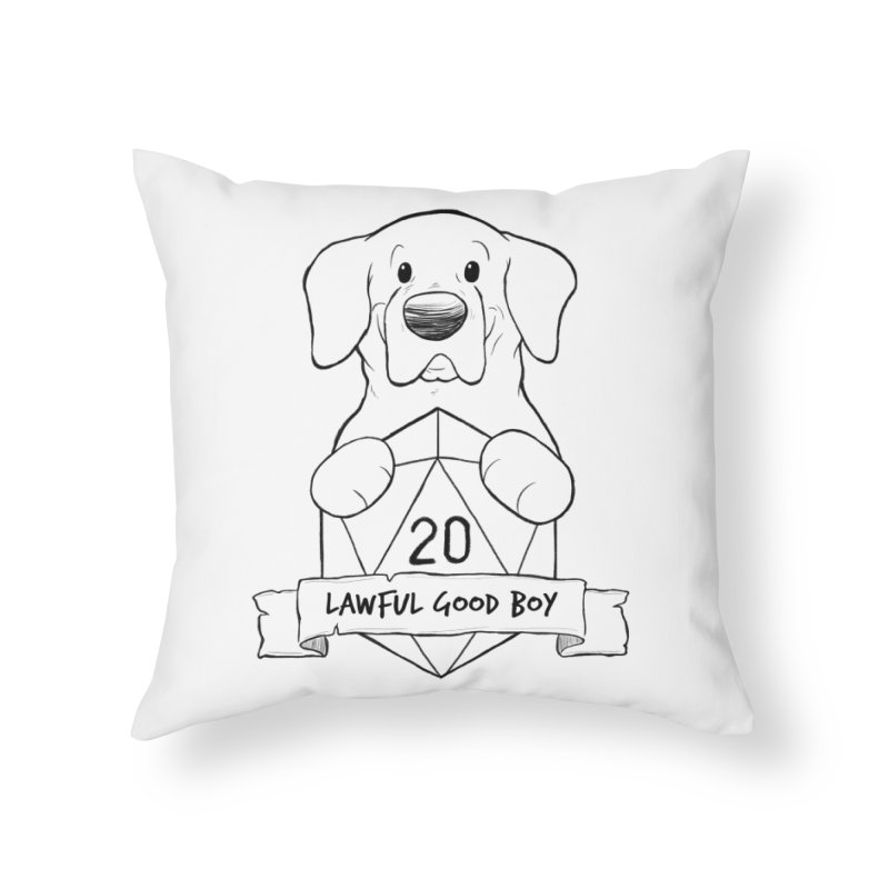 Lawful Good Boy Home Throw Pillow by DnDoggos's Artist Shop