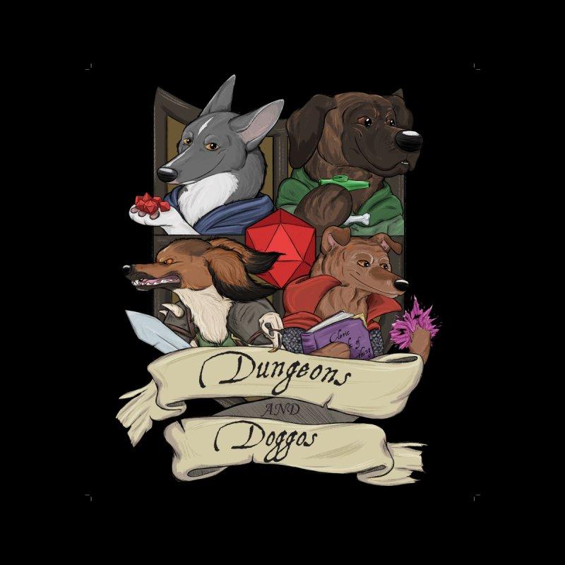 DnDoggos Emblem Full Color - Black BG Home Throw Pillow by DnDoggos's Artist Shop