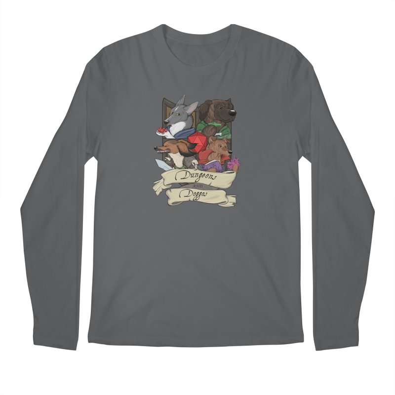DnDoggos Emblem Full Color - Black BG Men's Longsleeve T-Shirt by DnDoggos's Artist Shop