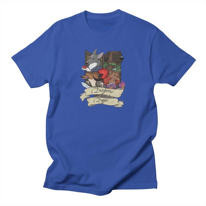 DnDoggos Emblem Full Color - Black BG Men's T-Shirt by DnDoggos's Artist Shop