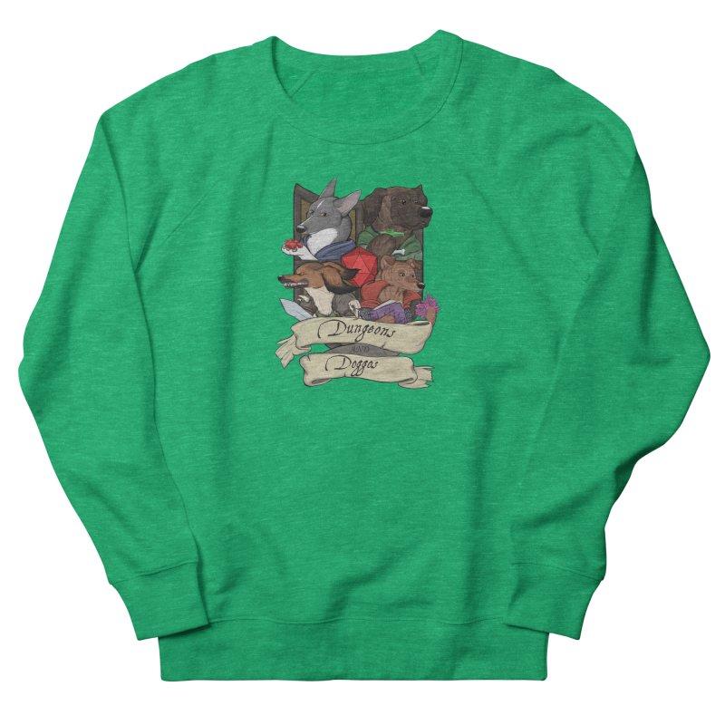 DnDoggos Emblem Full Color - Black BG Women's Sweatshirt by DnDoggos's Artist Shop
