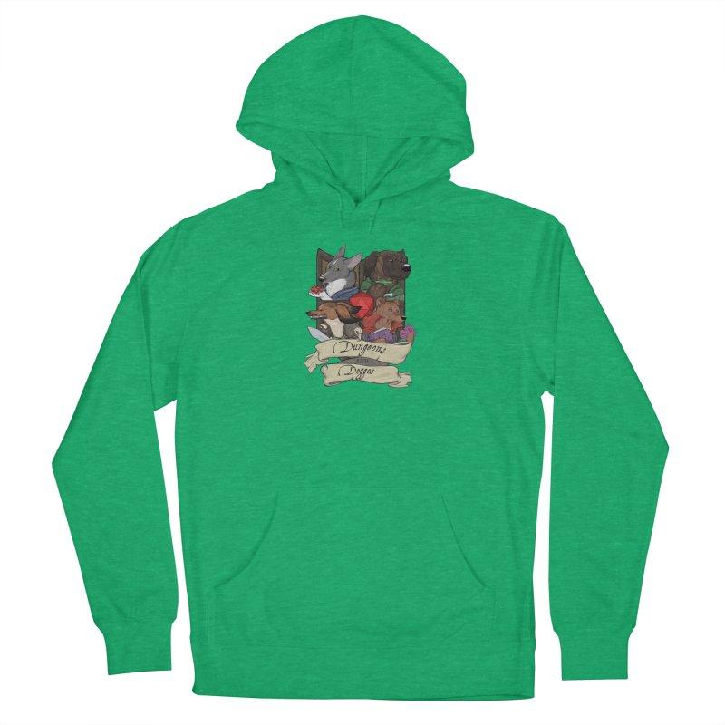 DnDoggos Emblem Full Color - Black BG Men's Pullover Hoody by DnDoggos's Artist Shop