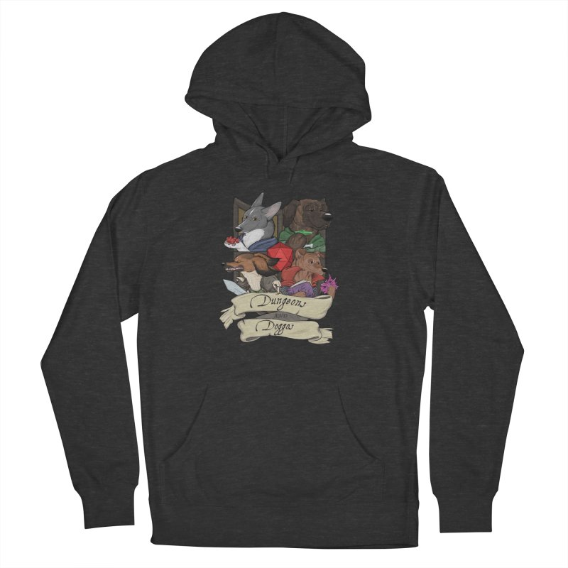 DnDoggos Emblem Full Color - Black BG Women's French Terry Pullover Hoody by DnDoggos's Artist Shop