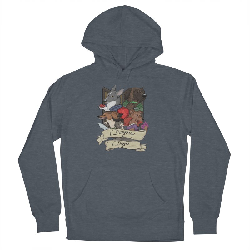 DnDoggos Emblem Full Color - Black BG Men's French Terry Pullover Hoody by DnDoggos's Artist Shop