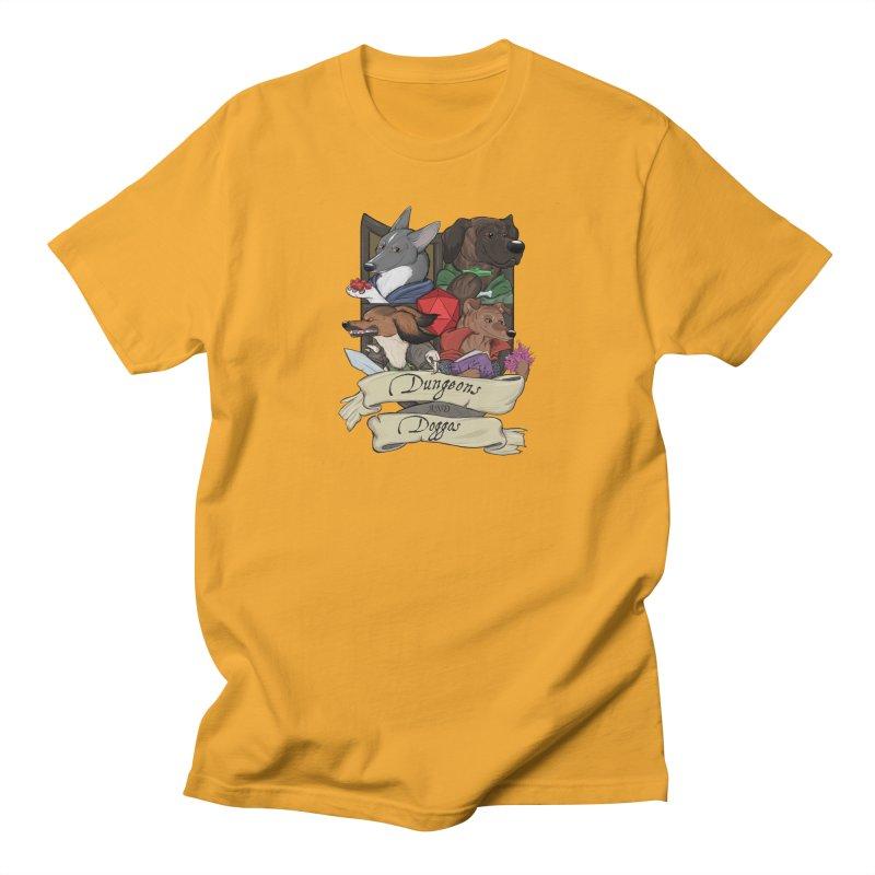 DnDoggos Emblem Full Color - Black BG Women's T-Shirt by DnDoggos's Artist Shop