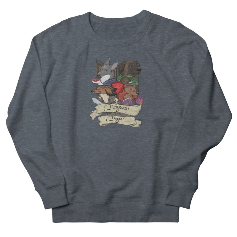DnDoggos Emblem Full Color - Black BG Men's French Terry Sweatshirt by DnDoggos's Artist Shop