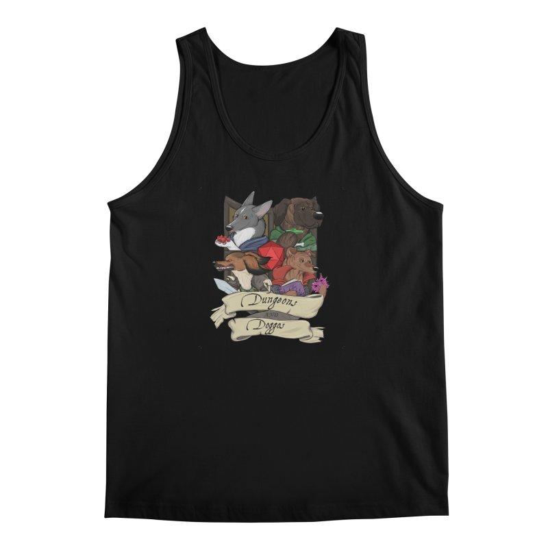 DnDoggos Emblem Full Color - Black BG Men's Regular Tank by DnDoggos's Artist Shop