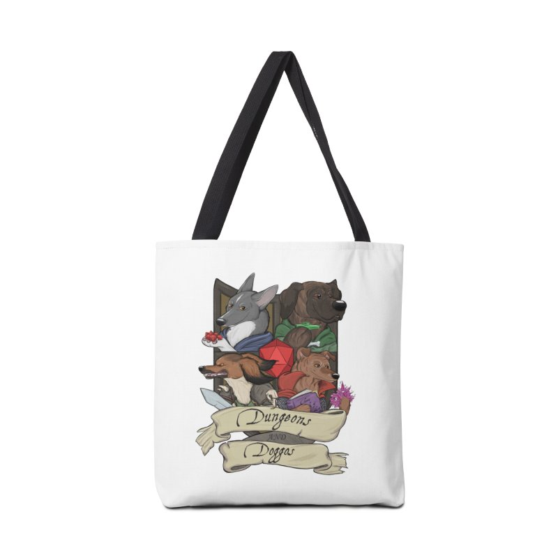 DnDoggos Emblem Color Accessories Tote Bag Bag by DnDoggos's Artist Shop