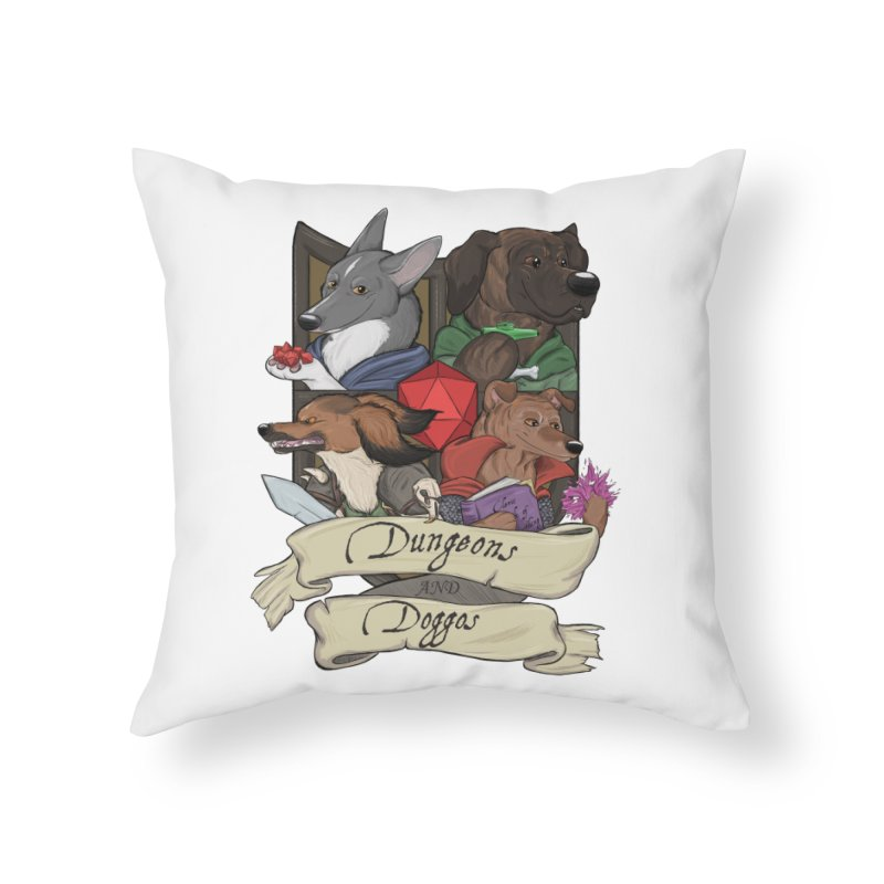 DnDoggos Emblem Color Home Throw Pillow by DnDoggos's Artist Shop