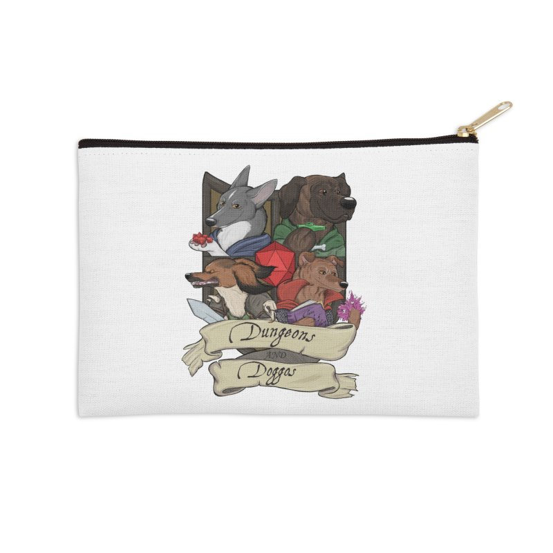 DnDoggos Emblem Color Accessories Zip Pouch by DnDoggos's Artist Shop