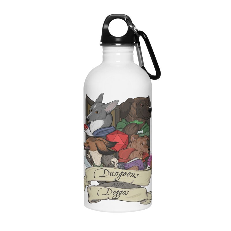 DnDoggos Emblem Color Accessories Water Bottle by DnDoggos's Artist Shop