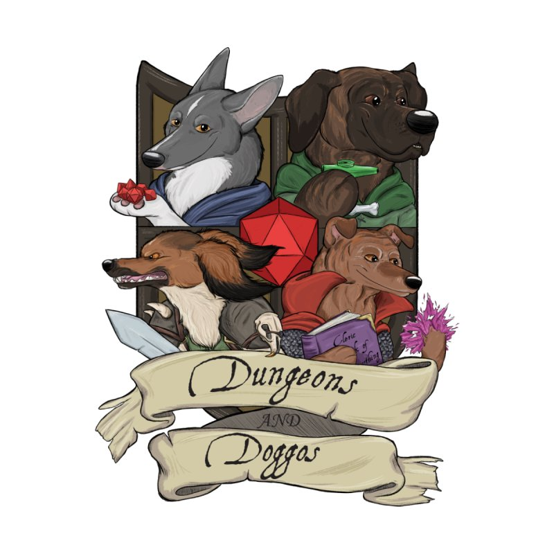 DnDoggos Emblem Color Accessories Sticker by DnDoggos's Artist Shop