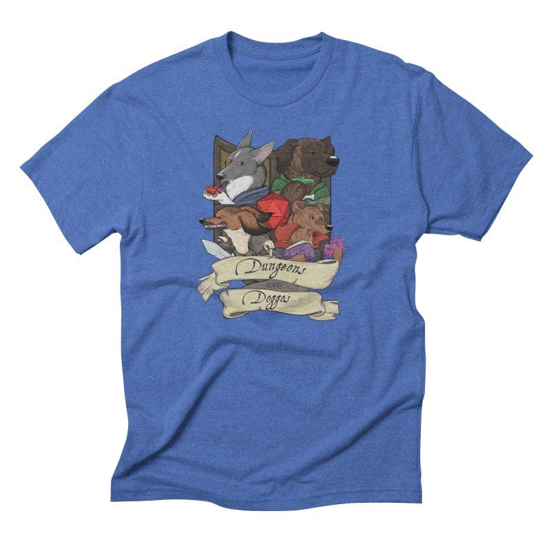 DnDoggos Emblem Color Men's T-Shirt by DnDoggos's Artist Shop