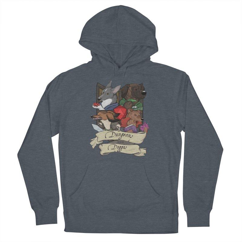 DnDoggos Emblem Color Men's French Terry Pullover Hoody by DnDoggos's Artist Shop