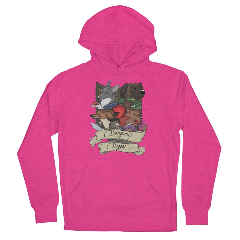 DnDoggos Emblem Color Men's French Terry Pullover Hoody by DnDoggos's Artist Shop