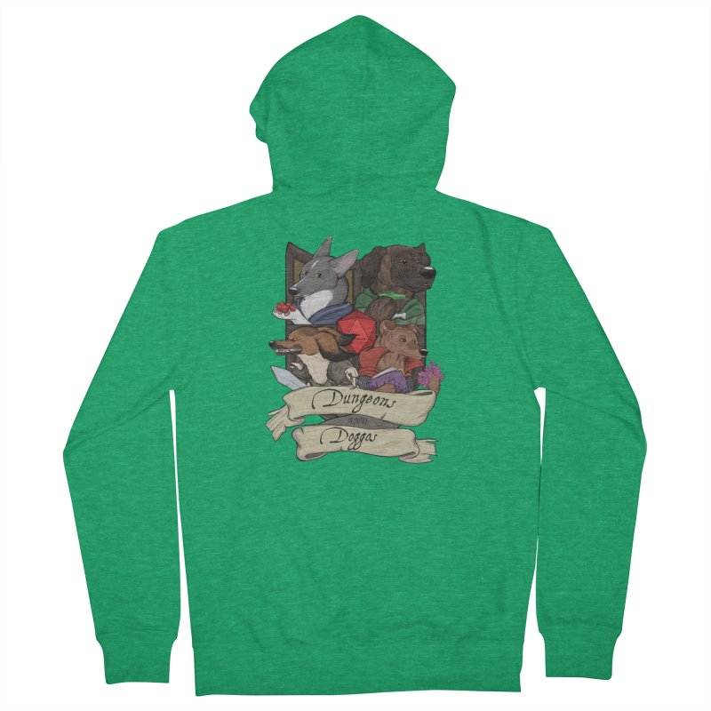 DnDoggos Emblem Color Men's Zip-Up Hoody by DnDoggos's Artist Shop