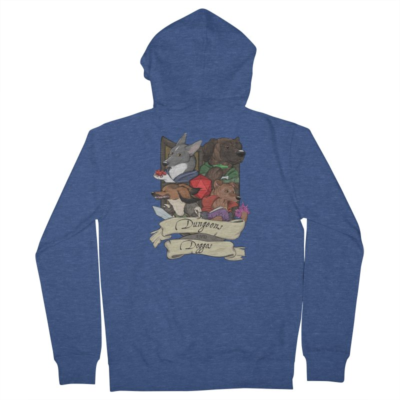 DnDoggos Emblem Color Men's French Terry Zip-Up Hoody by DnDoggos's Artist Shop