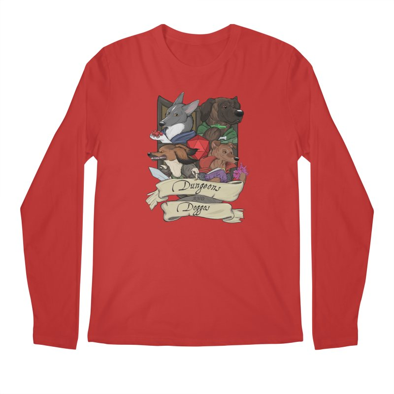 DnDoggos Emblem Color Men's Regular Longsleeve T-Shirt by DnDoggos's Artist Shop