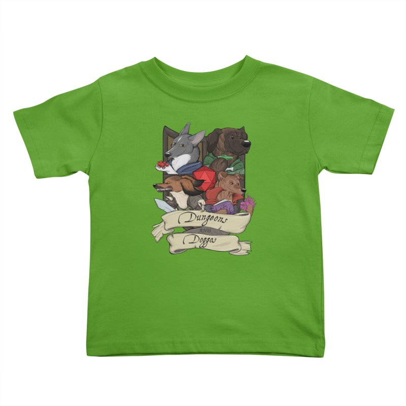 DnDoggos Emblem Color Kids Toddler T-Shirt by DnDoggos's Artist Shop