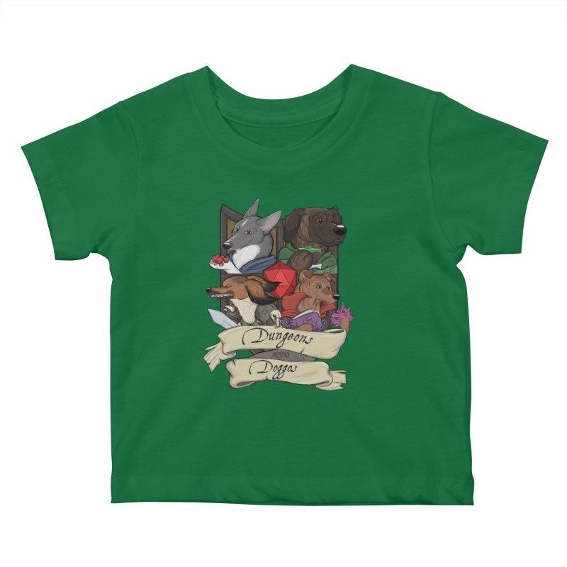 DnDoggos Emblem Color Kids Baby T-Shirt by DnDoggos's Artist Shop