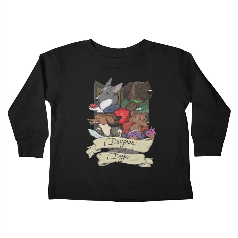 DnDoggos Emblem Color Kids Toddler Longsleeve T-Shirt by DnDoggos's Artist Shop