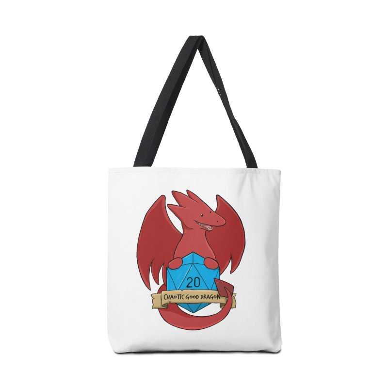 Chaotic Good Dragon Color Accessories Tote Bag Bag by DnDoggos's Artist Shop