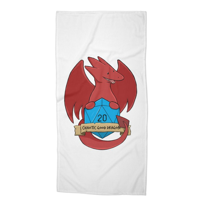 Chaotic Good Dragon Color Accessories Beach Towel by DnDoggos's Artist Shop
