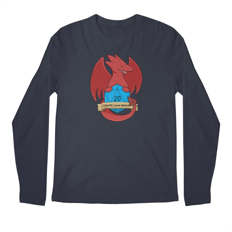 Chaotic Good Dragon Color Men's Regular Longsleeve T-Shirt by DnDoggos's Artist Shop