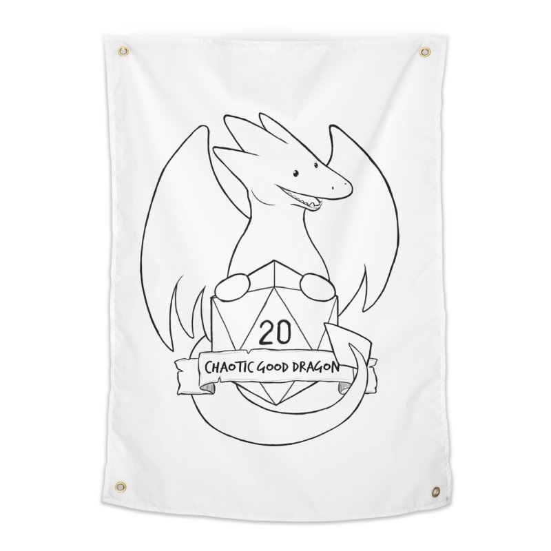 Chaotic Good Dragon Black and White Home Tapestry by DnDoggos's Artist Shop
