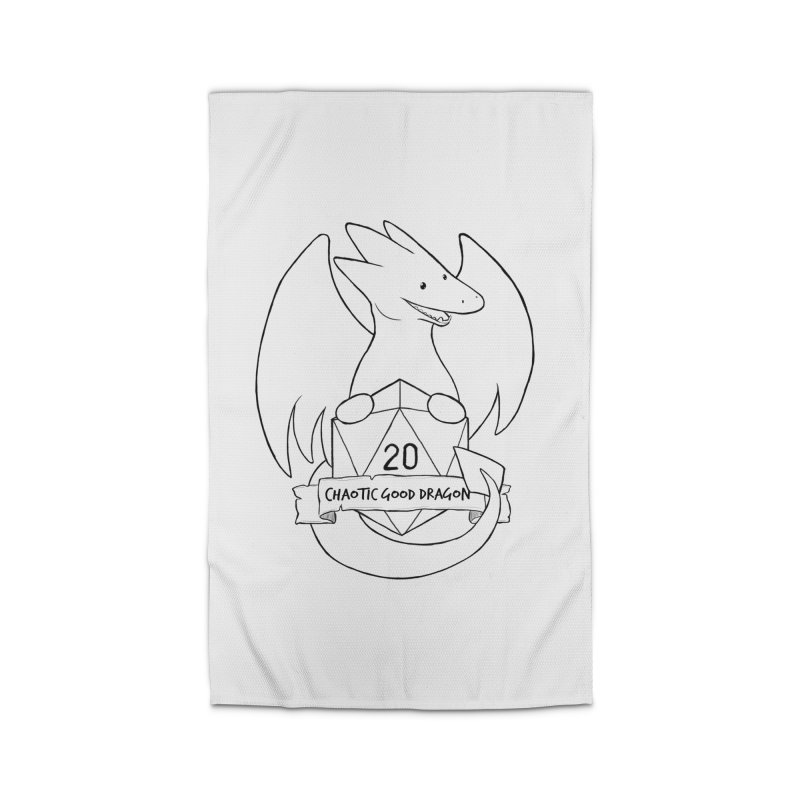 Chaotic Good Dragon Black and White Home Rug by DnDoggos's Artist Shop