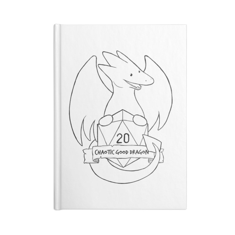 Chaotic Good Dragon Black and White Accessories Notebook by DnDoggos's Artist Shop