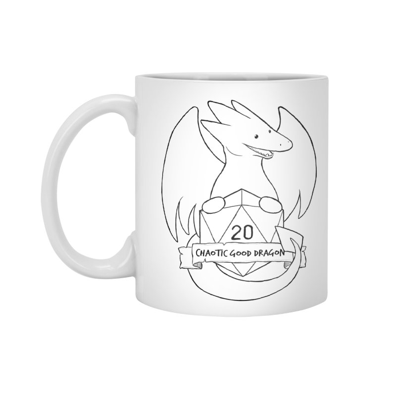 Chaotic Good Dragon Black and White Accessories Mug by DnDoggos's Artist Shop