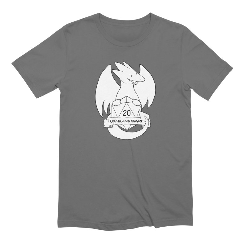 Chaotic Good Dragon Black and White Men's T-Shirt by DnDoggos's Artist Shop
