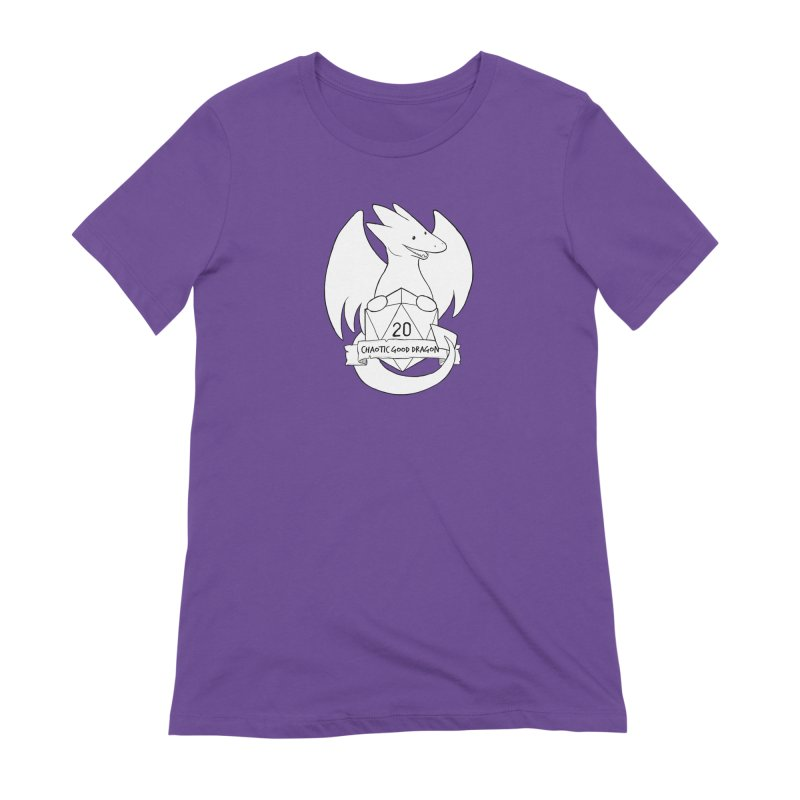 Chaotic Good Dragon Black and White Women's Extra Soft T-Shirt by DnDoggos's Artist Shop