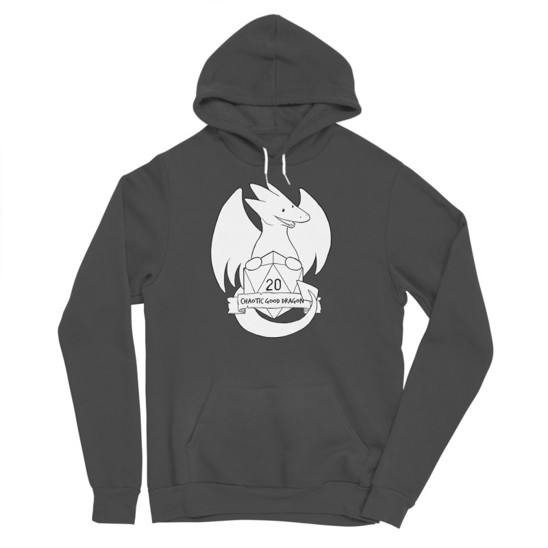 Chaotic Good Dragon Black and White Women's Sponge Fleece Pullover Hoody by DnDoggos's Artist Shop