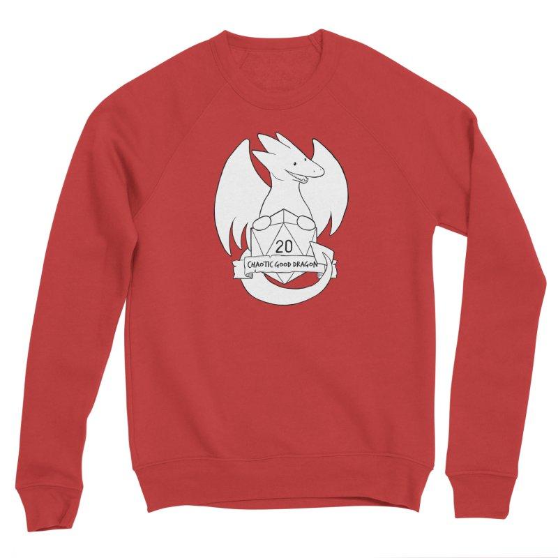 Chaotic Good Dragon Black and White Women's Sponge Fleece Sweatshirt by DnDoggos's Artist Shop