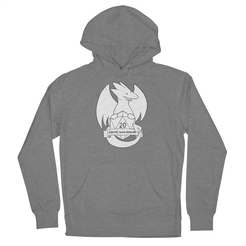 Chaotic Good Dragon Black and White Men's French Terry Pullover Hoody by DnDoggos's Artist Shop