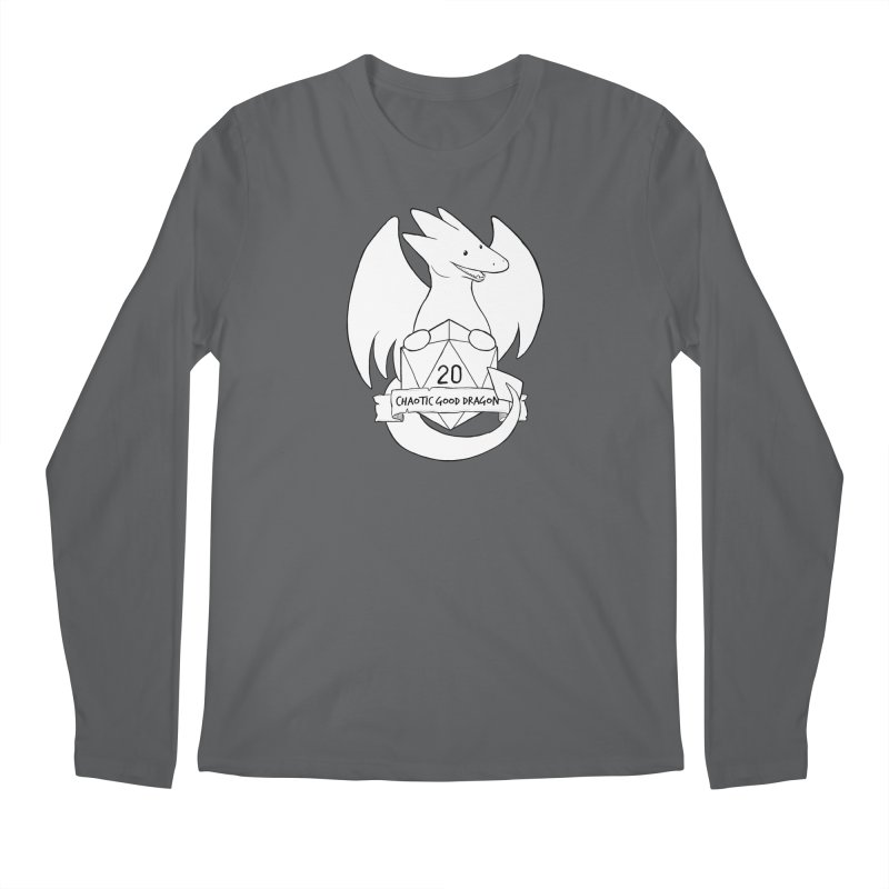 Chaotic Good Dragon Black and White Men's Longsleeve T-Shirt by DnDoggos's Artist Shop