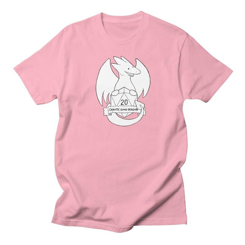 Chaotic Good Dragon Black and White Women's Regular Unisex T-Shirt by DnDoggos's Artist Shop