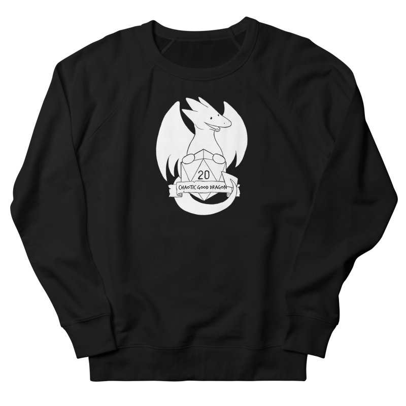 Chaotic Good Dragon Black and White Women's French Terry Sweatshirt by DnDoggos's Artist Shop