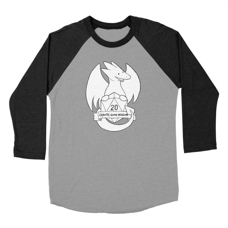 Chaotic Good Dragon Black and White Women's Baseball Triblend Longsleeve T-Shirt by DnDoggos's Artist Shop