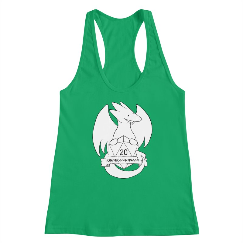 Chaotic Good Dragon Black and White Women's Tank by DnDoggos's Artist Shop